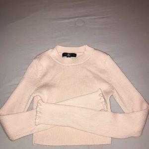 light pink long sleeve
